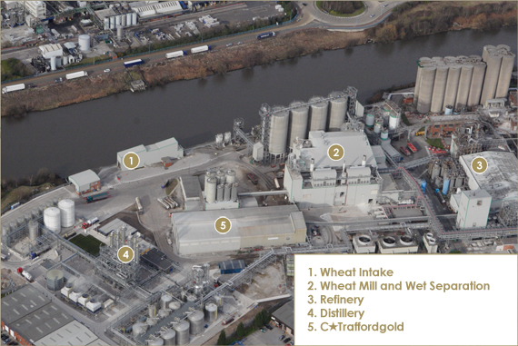 Traffordgold Production Process Arial View
